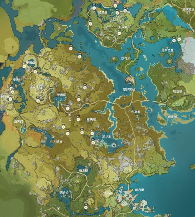 Карта расположения Кор-Ляпис - Genshin Impact (изображение 3)