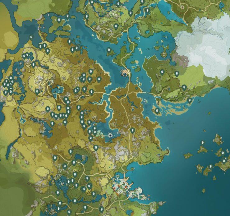 Карта расположения Кор-Ляпис - Genshin Impact (изображение 1)